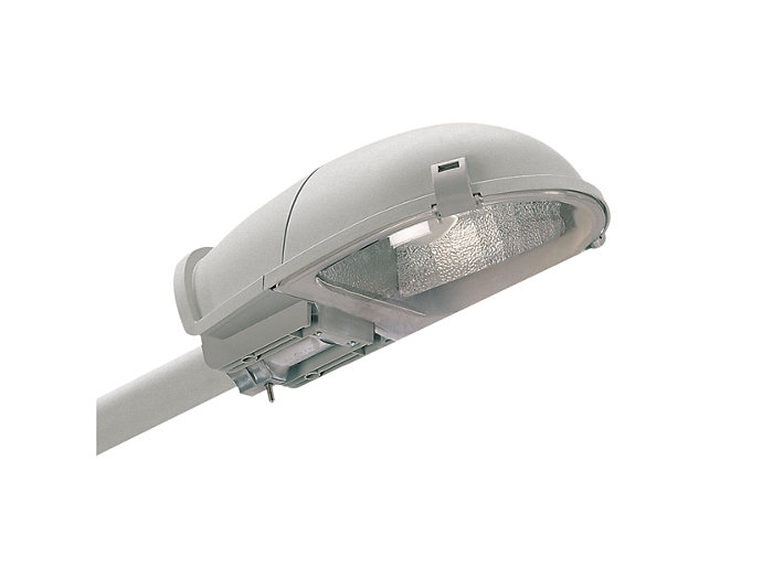 Malaga SGS101 road-lighting luminaire with flat glass, side-entry mounting