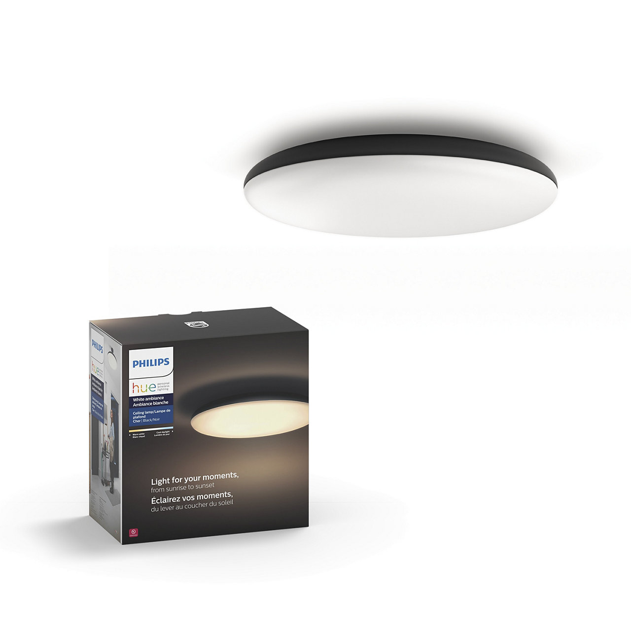 Hue White Ambiance Cher Dimmable LED Smart Ceiling Light