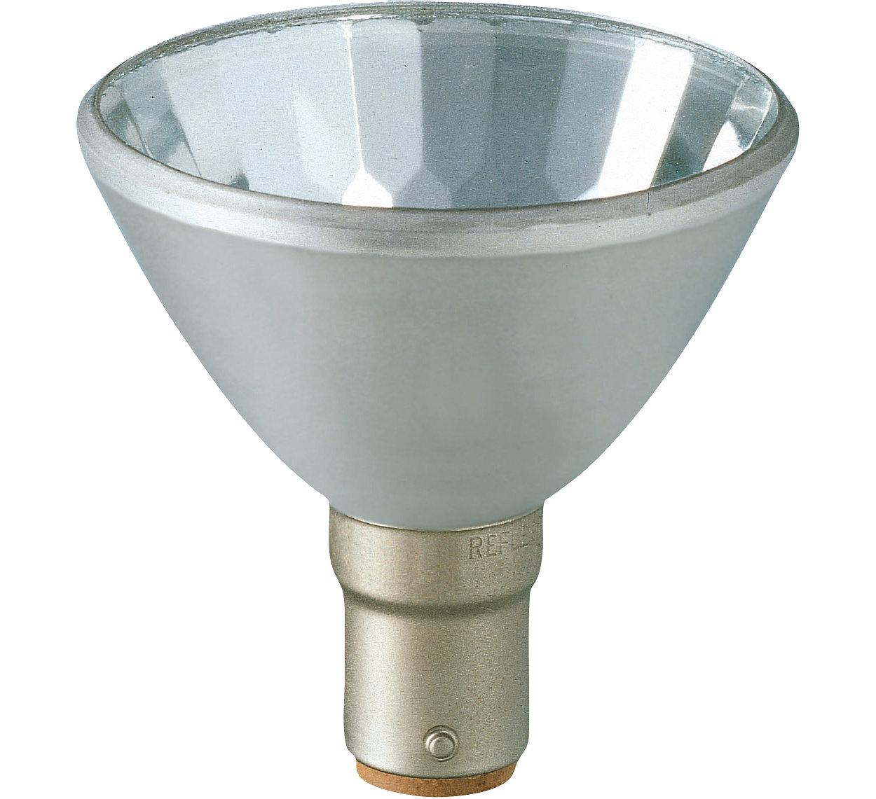 Bodové jasné bílé světlo s moderně vypadajícím hliníkovým reflektorem