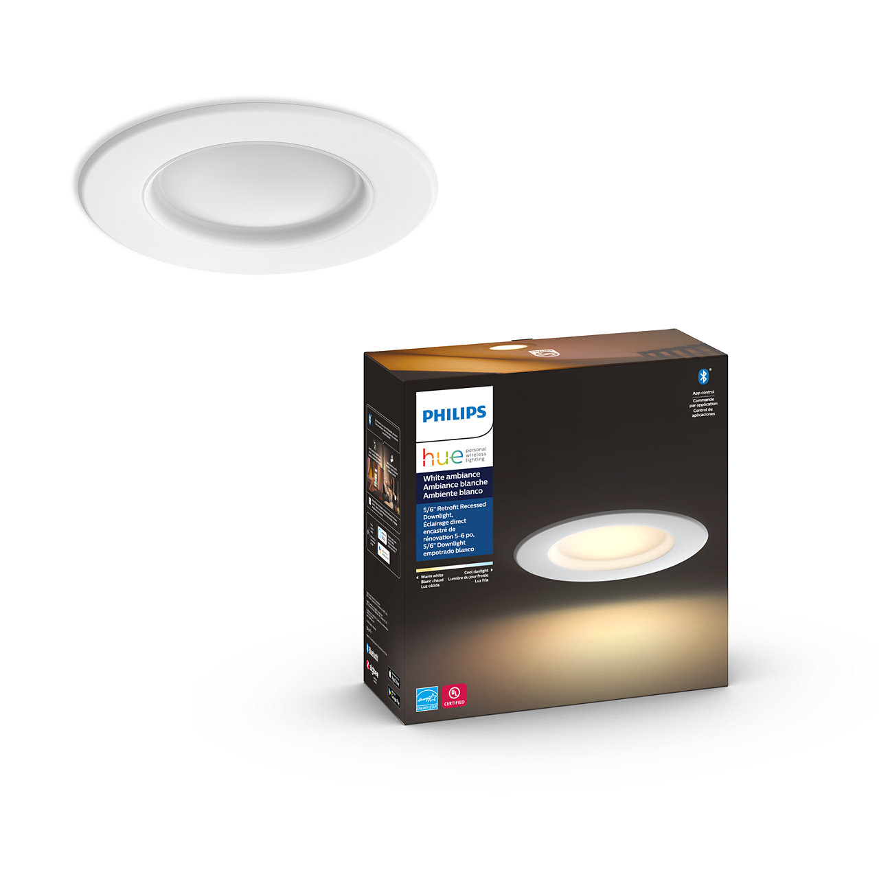Hue White Ambiance Retrofit LED Downlight - 5-6 inch