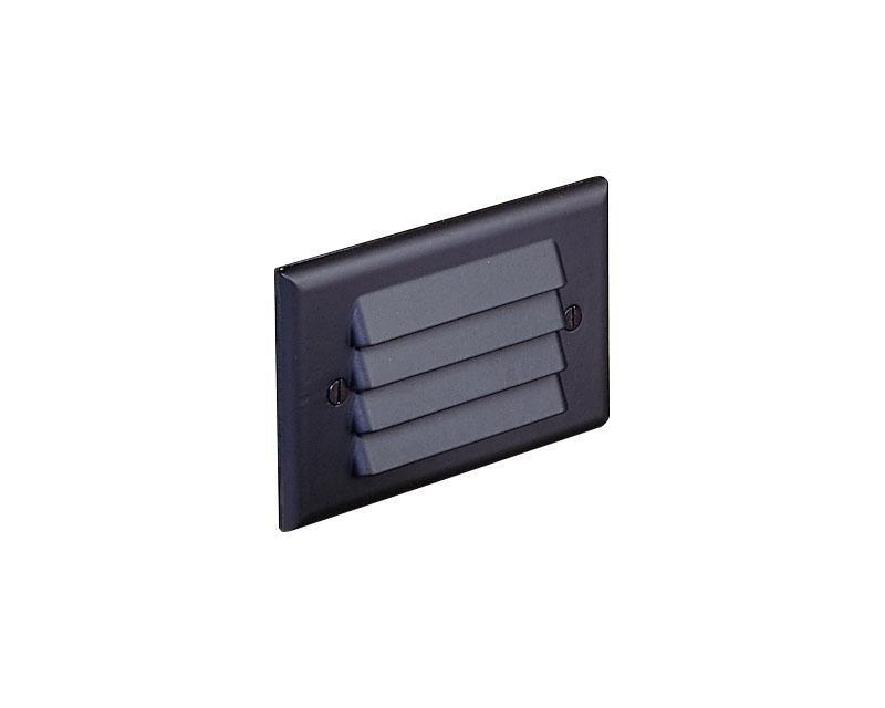Step Light, Aluminum, Recessed Louver, Black, 12W S-8 (93), 12V