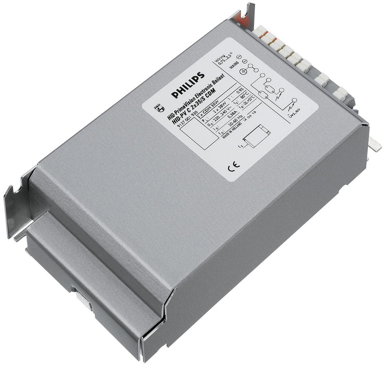 PrimaVision Twin (35 W e 70 W) per lampade CDM - La soluzione conveniente