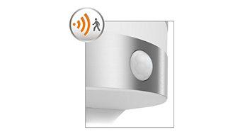 Sensor de movimiento incluido para total comodidad y tranquilidad