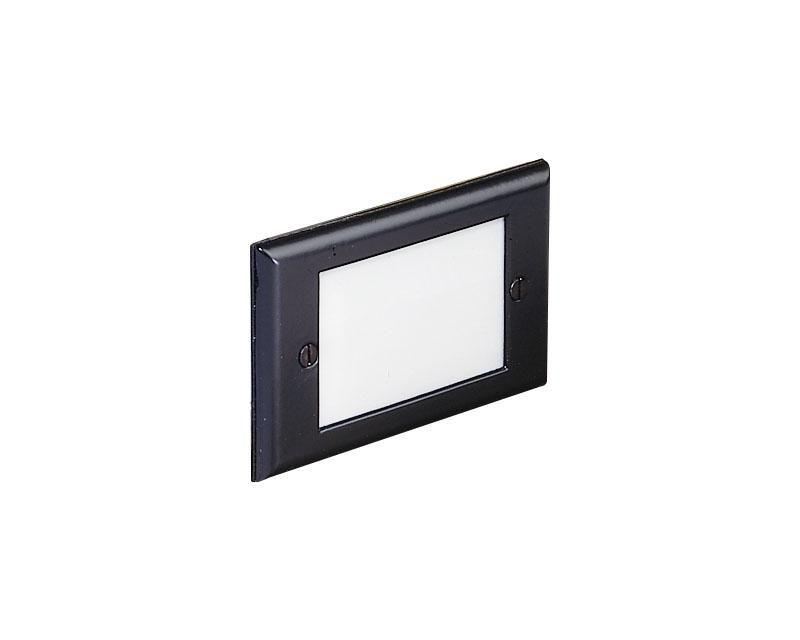 Step Light, Aluminum, Recessed, Black, 12W S-8 (93), 12V