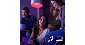 Συγχρονίστε τα φώτα Philips Hue με τις ταινίες και τη μουσική