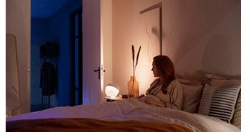Розумні світильники для легкого природного пробудження та засинання