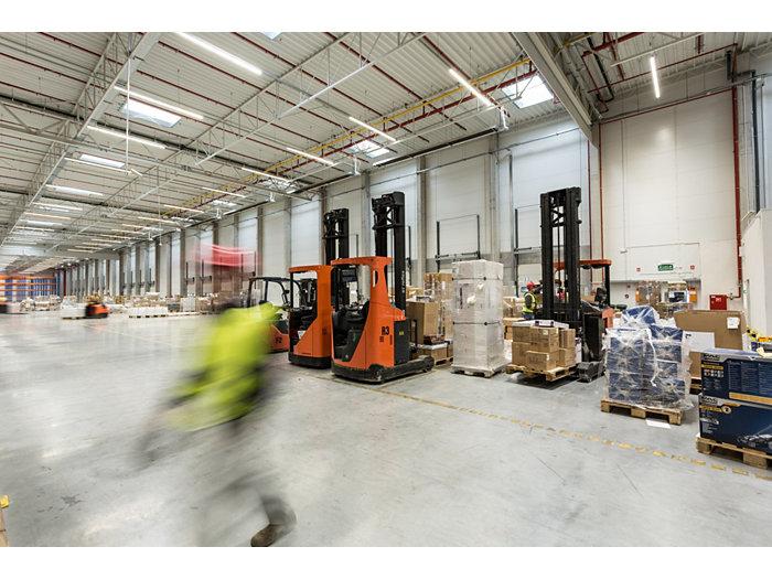 CoreLine batten in use in a warehouse