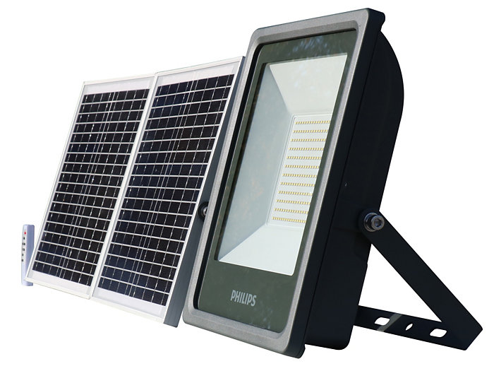 Smart Bright Solar Flood light 3000 lm side view