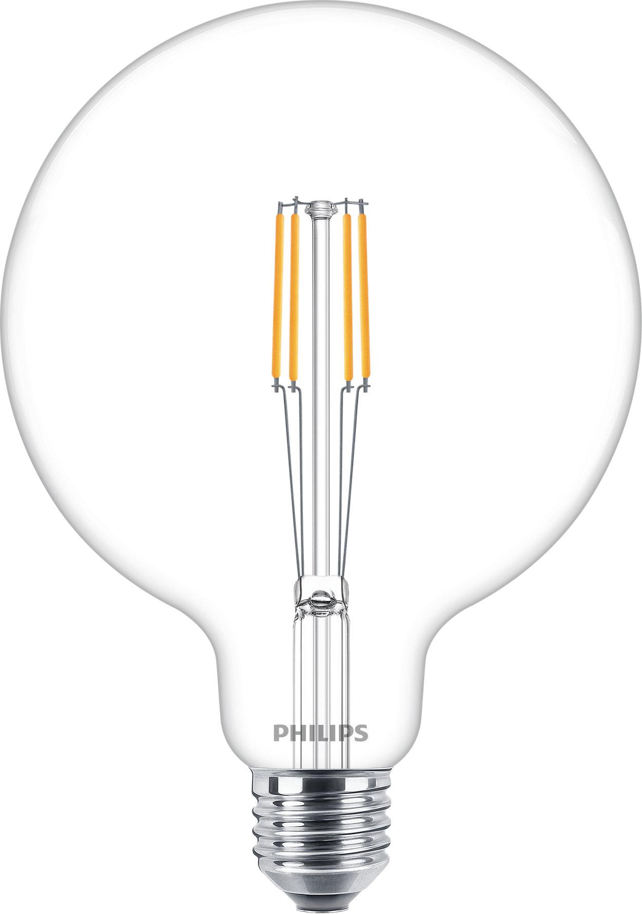 Ampolletas clásicas LED de filamento para iluminación decorativa