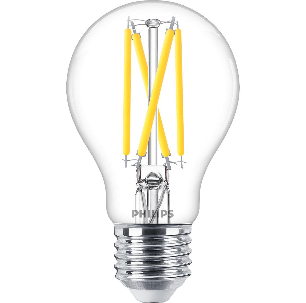 Спробуйте світлодіодний світильник із теплим білим світлом та можливістю регулювання яскравості