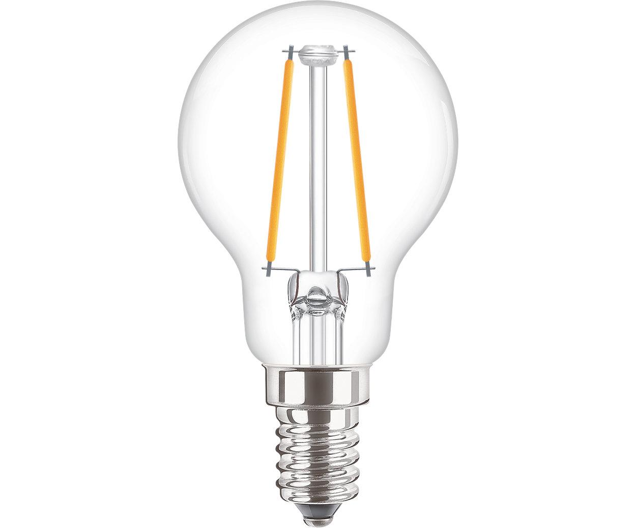 Lampes LED à filament classiques pour éclairage décoratif