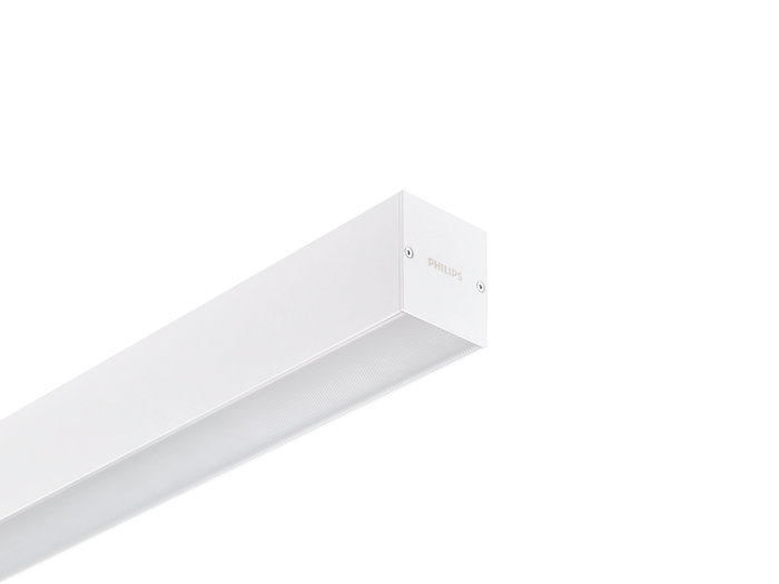 KeyLine white with ceiling bracket accessory for surface mounting