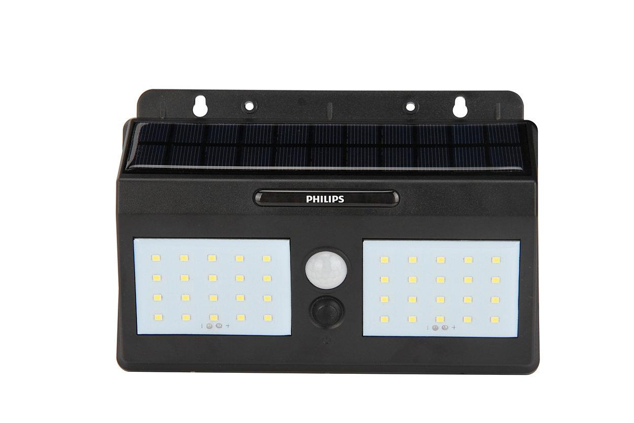 Lámpara solar LED de pared para exteriores