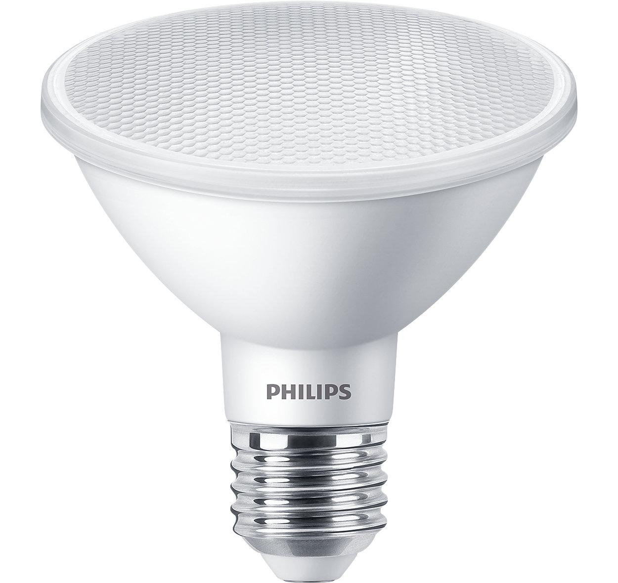 Tudo o que você valoriza em um Spot Halógeno (PAR30) agora com os benefícios do LED. Destaque a sua mercadoria ou espaço sem criar distrações.