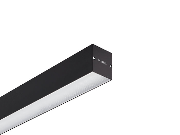 KeyLine black with ceiling bracket accessory for surface mounting