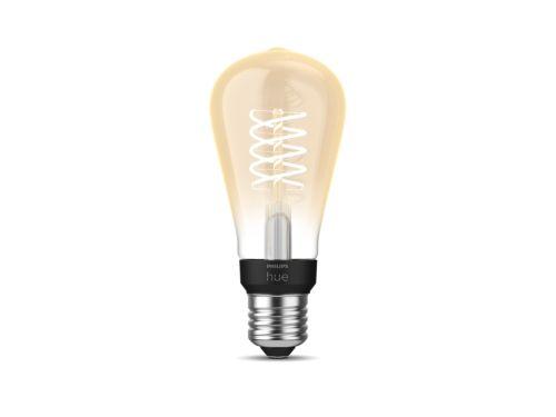 Philips Hue White Filament Lampe Einzelpack ST64 E27 Edison Lampe mit Glühdraht