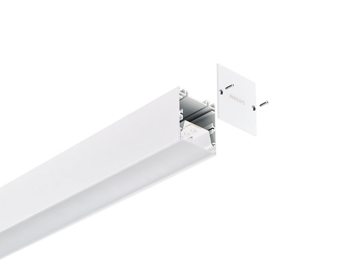 KeyLine white with end-cap accessory