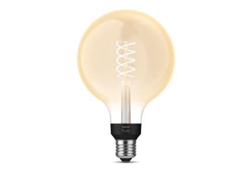 Philips Hue White Filament Lampe Einzelpack G125 E27 Giant Globe Glas mit Glühfaden