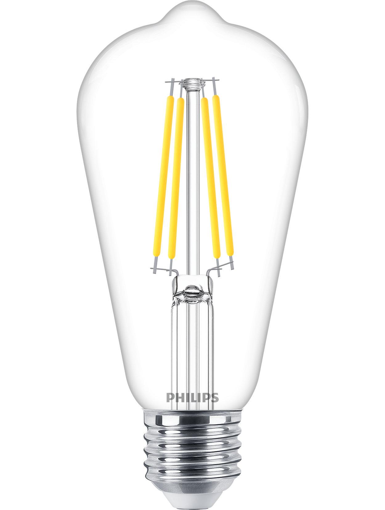 Philips Classic LED-gloeidraadlampen voor decoratieve verlichting.