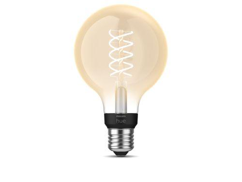 Philips Hue White Filament Lampe Einzelpack E27 Globe