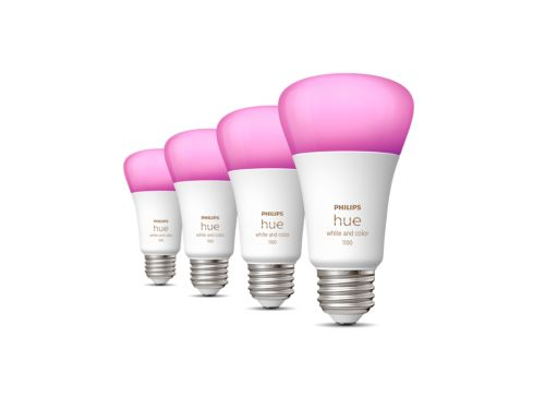 Hue White and color ambiance 4-pack E26