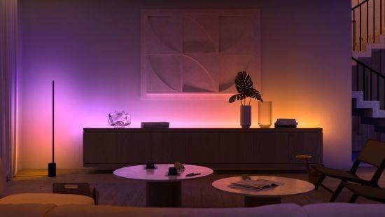 Создавайте индивидуальную атмосферу благодаря многоцветному интеллектуальному освещению