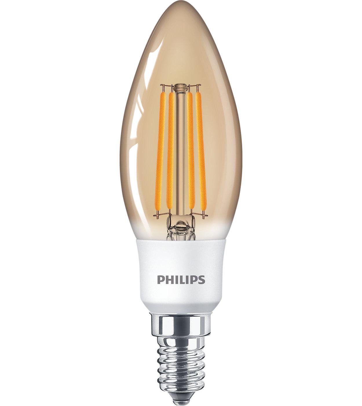 Lâmpadas de filamento de LED clássicas para iluminação decorativa