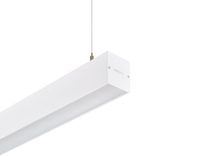 KeyLine white with suspension set for suspended mounting