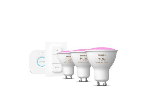 Hue White and Color Ambiance Kit de démarrage GU10