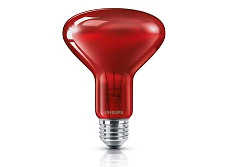 R95 IR 100W E27 230V Red hard 1CT/20