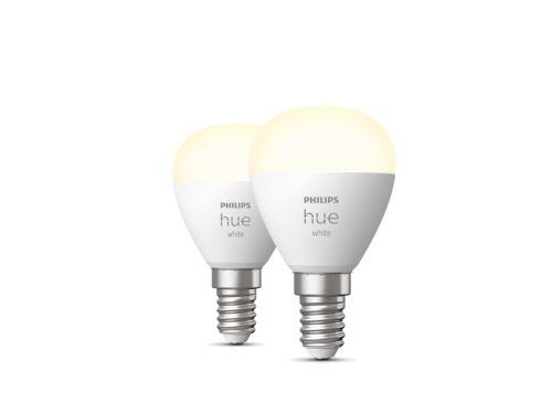 Hue White 2-pack kogellamp P45 E14