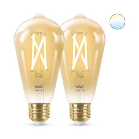 Filament amber ST64 E27 x2